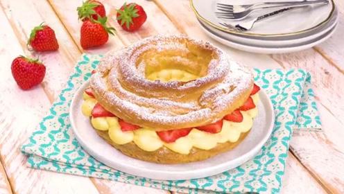草莓夹心面包,不同寻常的美味,恋爱的味道!