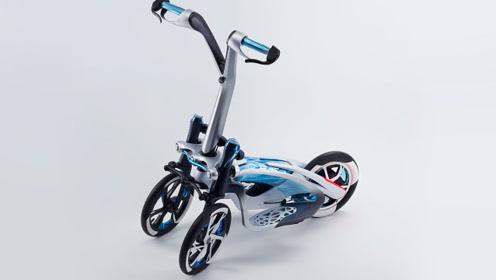 """雅马哈黑科技""""滑板车""""!倒三轮侧倾系统,敢玩赛车压弯!"""