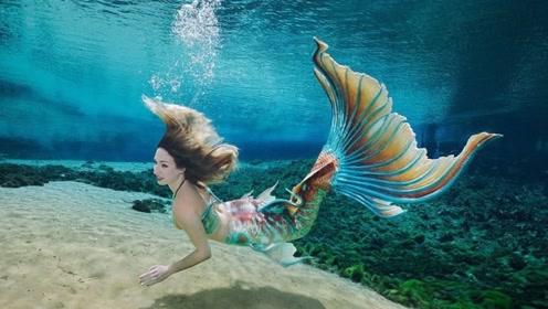 """水族馆养了一条""""美人鱼"""",游客纷纷围观拍照,堪比视觉盛宴!"""