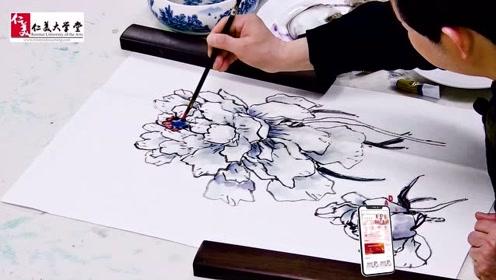 盛世牡丹 教你画白色牡丹 精彩国画教程不容错过