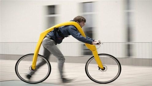 背在身上的自行车,没有座椅和链条,究竟怎么骑的?