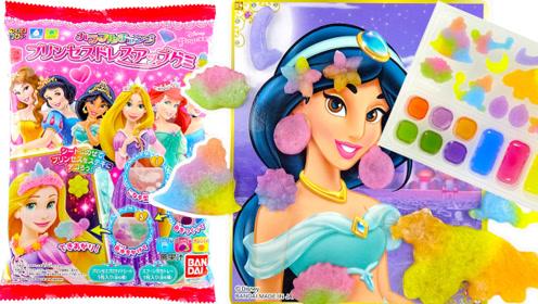 趣味食玩DIY迪士尼公主软糖,装饰公主卡片