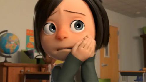 女孩长期受到家暴,从不敢抬头看人,直到老师给她温暖的拥抱!