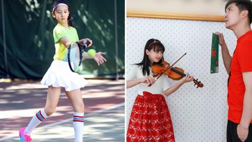 田亮11岁女儿森碟参加校运会,身高168大长腿太优秀