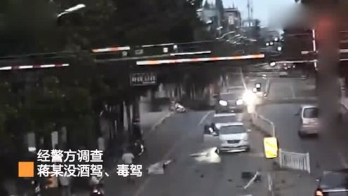 嘉兴一男子驾车连撞8车致3伤,涉嫌危害公共安全罪被取保候审