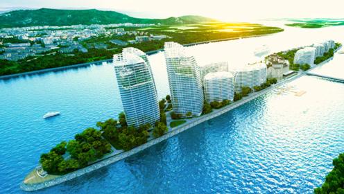 离朝鲜最近的中国小岛,遍布高楼大厦,与对岸形成鲜明对比