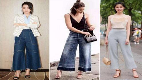 阔腿裤怎么搭衣服好看?合适的搭配,显高又舒适,秋天就爱阔腿裤