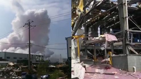 广西玉林陆川一工厂发生爆炸 出现紫色浓烟至少4死6伤