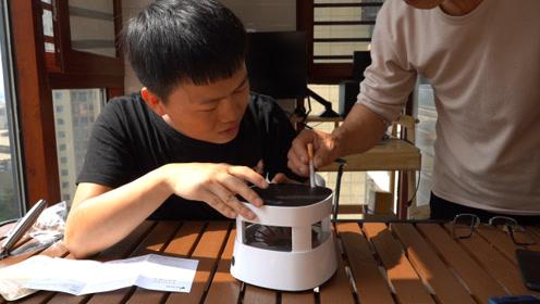 开箱测评空气净化烟灰缸,268元买的,我爸说不如一盘水的效果