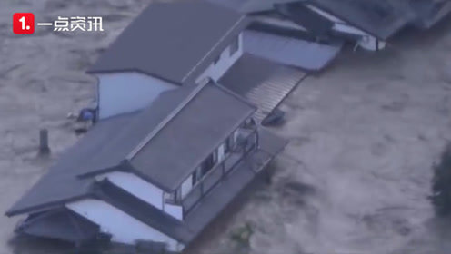 """航拍记录台风""""海贝思""""重创日本 灾区触目惊心"""