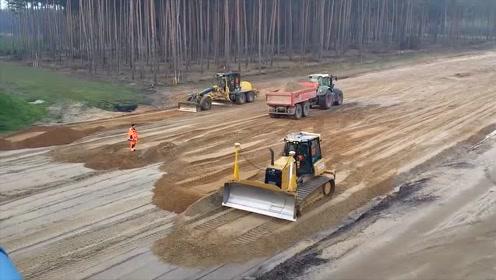 难得一见的德国铺设高速公路,看完才知道什么叫质量