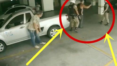 巴西一壮男挑衅两名警察,5秒后,下场不是一般的惨!