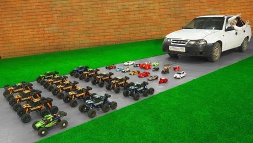 老外用玩具车去拉汽车,多少辆才能拉动?网友:异想天开!