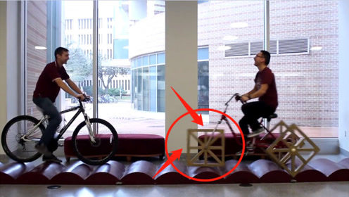 """外国大学生发明""""方形轮胎""""自行车,骑车的瞬间,速度让人羡慕不已!"""