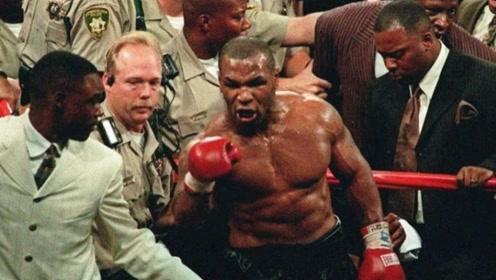 惹怒野兽有多严重!泰森被对手击倒,起身后连续暴击3次击倒KO对手