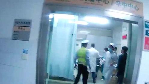 外地患者转院路上氧气将耗尽,民警紧急开道送医