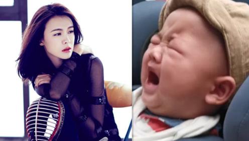 李艾4个月大儿子灯泡眯眼大哭,听到妈妈唱歌瞬间不哭超乖