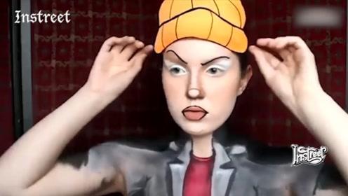 看外国化妆大神,如何分分钟把自己变成卡通人物