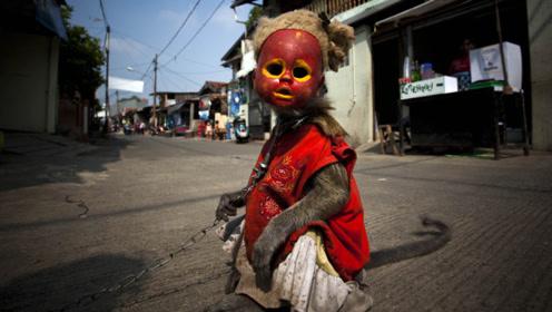 """印尼街头出现""""怪童"""",身体被铁链锁住,走近一看莫名心酸"""