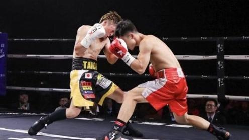 中国小将一回合四次轰翻日本拳手,霸气KO还将日本拳手打哭了