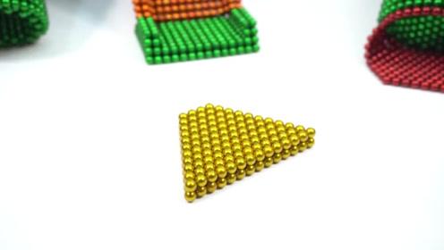 趣味手工制作:磁力珠做游乐园滑滑梯,好玩!