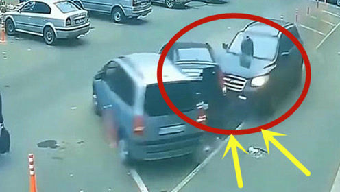 女司机直接杀进停车场,一脚油门后,下车傻眼了!