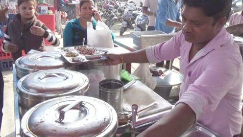 """印度街头的""""烤饼套餐"""",绝对""""原汁原味"""",敢不敢来一份呢?"""