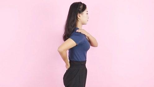 肩膀酸胀、僵硬,1个拍打动作,疏通堵塞经络,颈椎病悄悄走