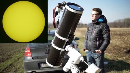 用天文望远镜直视太阳是什么体验?老外作死实验,看完我是服了