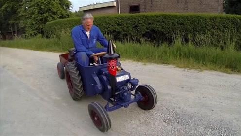 牛人自制小型拖拉机,高手在民间!