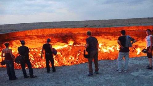 沙漠神秘巨坑着火 大火燃烧了46年至今未灭