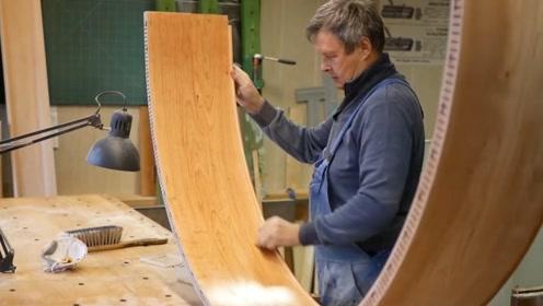 全靠手工制作半圆形的木结构,这手艺可以说惊为天人