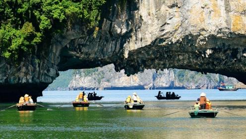 """大自然耗时5亿年才雕刻出的美景,却被称为""""海上桂林""""?下龙湾邀你找不同"""