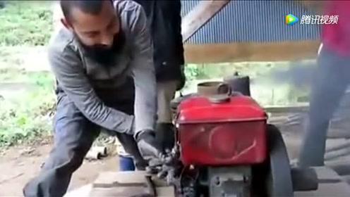 如果摇柴油机小伙是人才,那么这柴油机绝对是神机