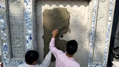 墙上抹点水泥,刚开始都没看懂,成品出来后我竖起了大拇指!