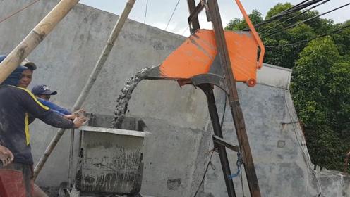 荷兰发明新型混凝土浇灌机,3天便可建一栋房子,5800元造一台