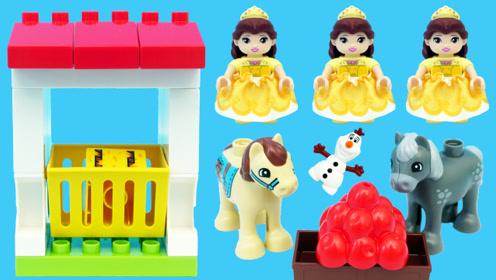 乐高LEGO的动物农场积木玩具