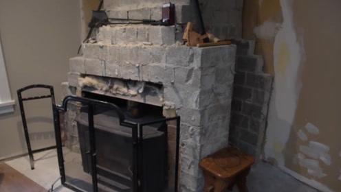 壁炉改造计划,为了顺利度过冬天,小哥决定DIY下家里的旧壁炉