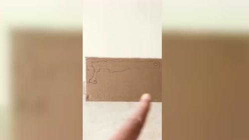 用纸板做的绝地求生awm模型,动手能力超强!