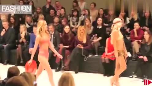 新品比基尼纽约时尚走秀,红色的经典款式