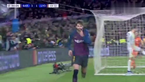 巴塞进第四球,梅西真是无人阻挡啊,球王的脚步停不下来