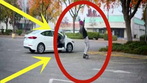 """""""好奇心害死猫""""男子故意把平衡车放大街上,那些忍不住的人大出洋相!"""