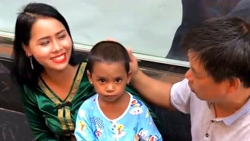 老哥来缅甸四五年,娶了一个年轻娇妻,他儿子和大哥肤色好像不一样啊?