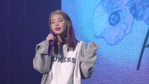 IU李知恩素颜紫发唱新歌,一开口简直太甜了,听到最后不淡定了!