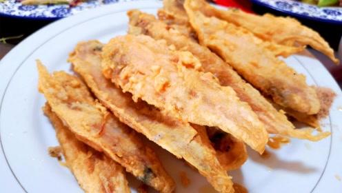 不管炸啥鱼,别只会用淀粉,教你一招,外酥里嫩,鱼肉鲜嫩不腥气