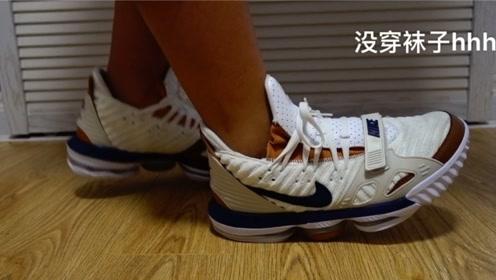 球鞋分享:美国买来才穿一天的詹16,空气训练师气垫怎么样?