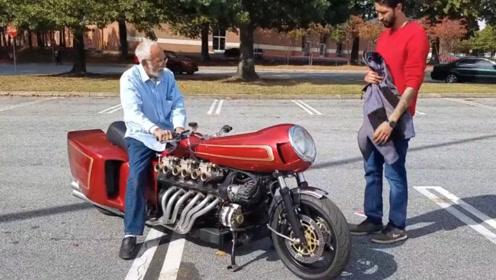 将兰博基尼发动机拆下,装在摩托车上,骑上会不会起飞啊?