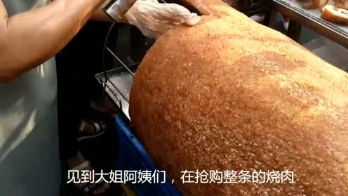 广州番禺早市,师奶抢购整条烧肉拜祭,不知是什么日子