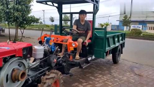 越南的高配拖拉机,搭载着中国制造的发动机,启动起来就是带劲!