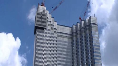 世界上最神奇的拆楼机,为了不扰民,日本拆一栋楼用了半年时间